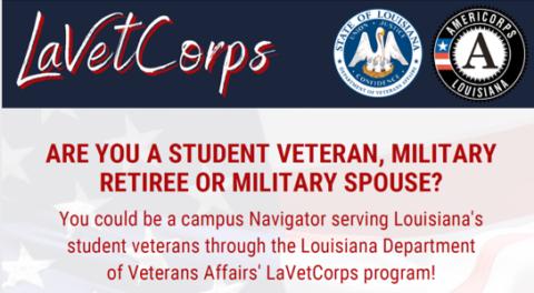 Louisiana Veterans Corps is Recruiting!